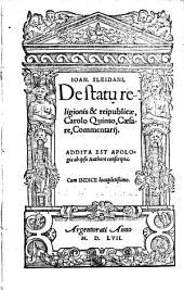 De statu religionis et reipublicae Carolo V. caesare commentarii