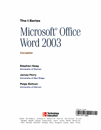 Microsoft Office Word 2003 Complete PDF