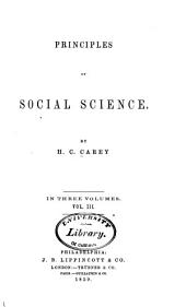 Principles of Social Science: Volume 3