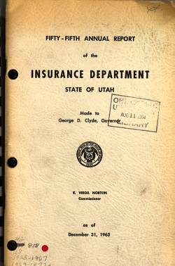 Annual Report of the Insurance Department PDF