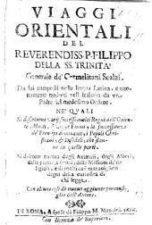 Viaggi Orientali ... composti nella lingua Latina, e nuovamente tradotti nell'Italiana da un Padre del medesimo Ordine, etc