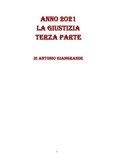 ANNO 2021 LA GIUSTIZIA TERZA PARTE PDF