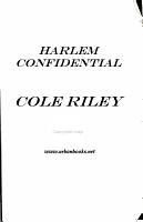 Harlem Confidential PDF