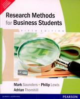 Research Methods For Business Students  5 e PDF