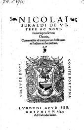 De vetere ac novitia jurisprudentia oratio