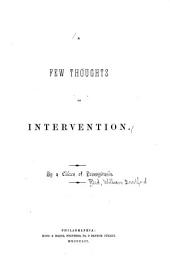 A Few Thoughts on Intervention