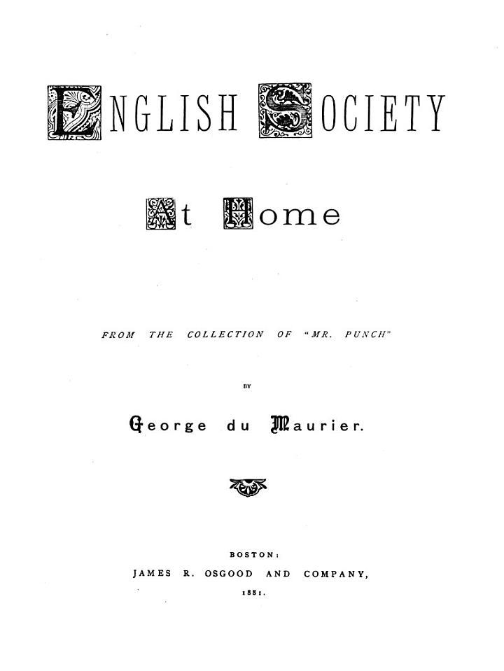 English Society at Home