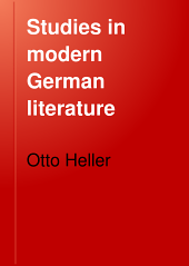 Studies in Modern German Literature: Sudermann; Hauptmann; Women Writers of the Nineteenth Century