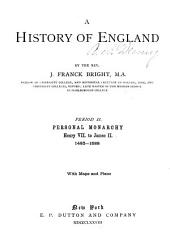 A History of England: Volume 449, Issue 1485