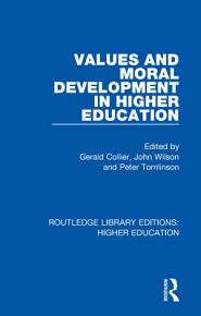 Values and Moral Development in Higher Education PDF