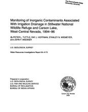 Monitoring Of Inorganic Contaminants Associated With Irrigation Drainage In Stillwater National Wildlife Refuge And Carson Lake  Etc   U S  Geological Survey  Water Resources Investigations Report 00 4173  2000 PDF