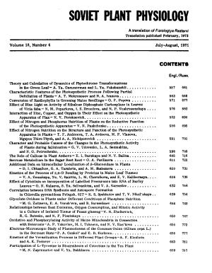 Soviet Plant Physiology