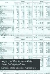 Report of the Kansas State Board of Agriculture: Volumes 3-4