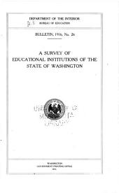 A survey of educational institutions of the state of Washington
