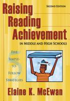 Raising Reading Achievement in Middle and High Schools PDF