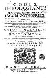 Codex Theodosianus: Volume 6