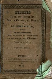Lettres sur la charte, la pairie et la liste civile
