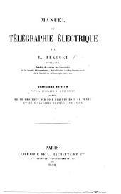 Manuel de la télégraphie électrique à l'usage des employés des chemins de fer