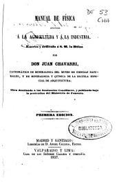 Manual de física aplicada á la agricultura y á la industria