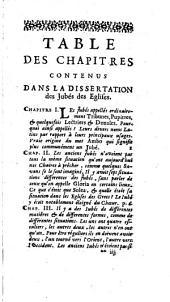 Dissertations ecclesiastiques sur les principaux autels des eglises, les jubes des eglises, la cloture du choeur des eglises