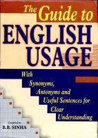 The Guide To English Usage PDF