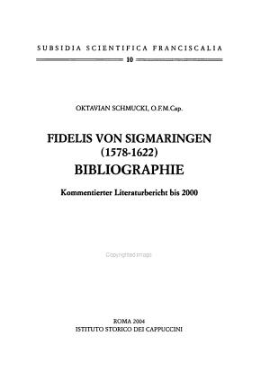 Fidelis von Sigmaringen  1578 1622  PDF