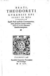 In quatuordecim Sancti Pauli epistolas commentarius, nunc primum latine versus Gentiano Herveto interprete