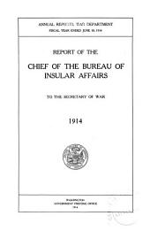 Annual Report of the Chief of the Bureau of Insular Affairs