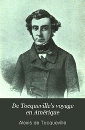 De Tocqueville's Voyage en Amérique
