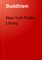 Buddhism: A List of References in the New York Public Library
