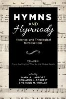 Hymns and Hymnody  Historical and Theological Introductions  Volume 3 PDF