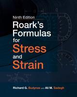 Roark s Formulas for Stress and Strain  9E PDF