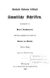 Gotthold Ephraim Lessing's S Mmtliche Schriften: Band 3