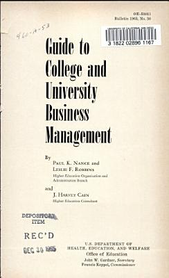Guide to College and University Business Management
