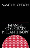 Japanese Corporate Philanthropy