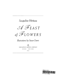 A Feast Of Flowers Book PDF