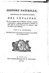 Histoire naturelle, générale et particulière des cétacées