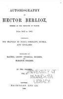 Autobiography of Hector Berlioz PDF