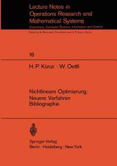 Nichtlineare Optimierung: Neuere Verfahren Bibliographie