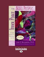 Inner Peace for Busy People PDF