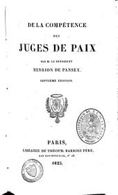 De la compétence des juges de paix