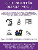 Malspiele f  r Kinder im Vorschulalter  Siehe innen f  r Details   Vol  3  PDF