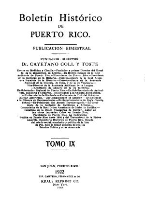 Boletin Hist  rico de Puerto Rico