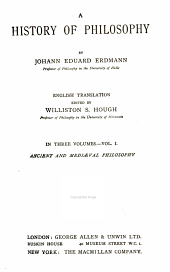 A history of philosophy: Volume 1