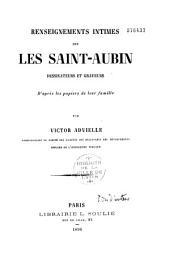 Renseignements intimes sur les Saint-Aubin, dessinateur et graveurs