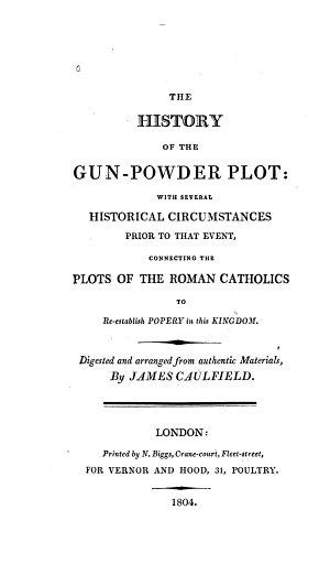 The History of the Gunpowder Plot