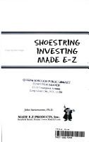 Shoe String Investing Made E Z PDF