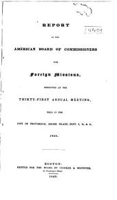 Annual Report - American Board of Commissioners for Foreign Missions: Volumes 31-33