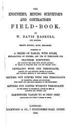 Engineer's, Mining Surveyor's, & Contractor's Field-book