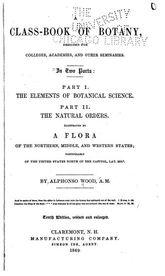 A Class book of Botany  Designed for Colleges  Academies  and Other Seminaries PDF